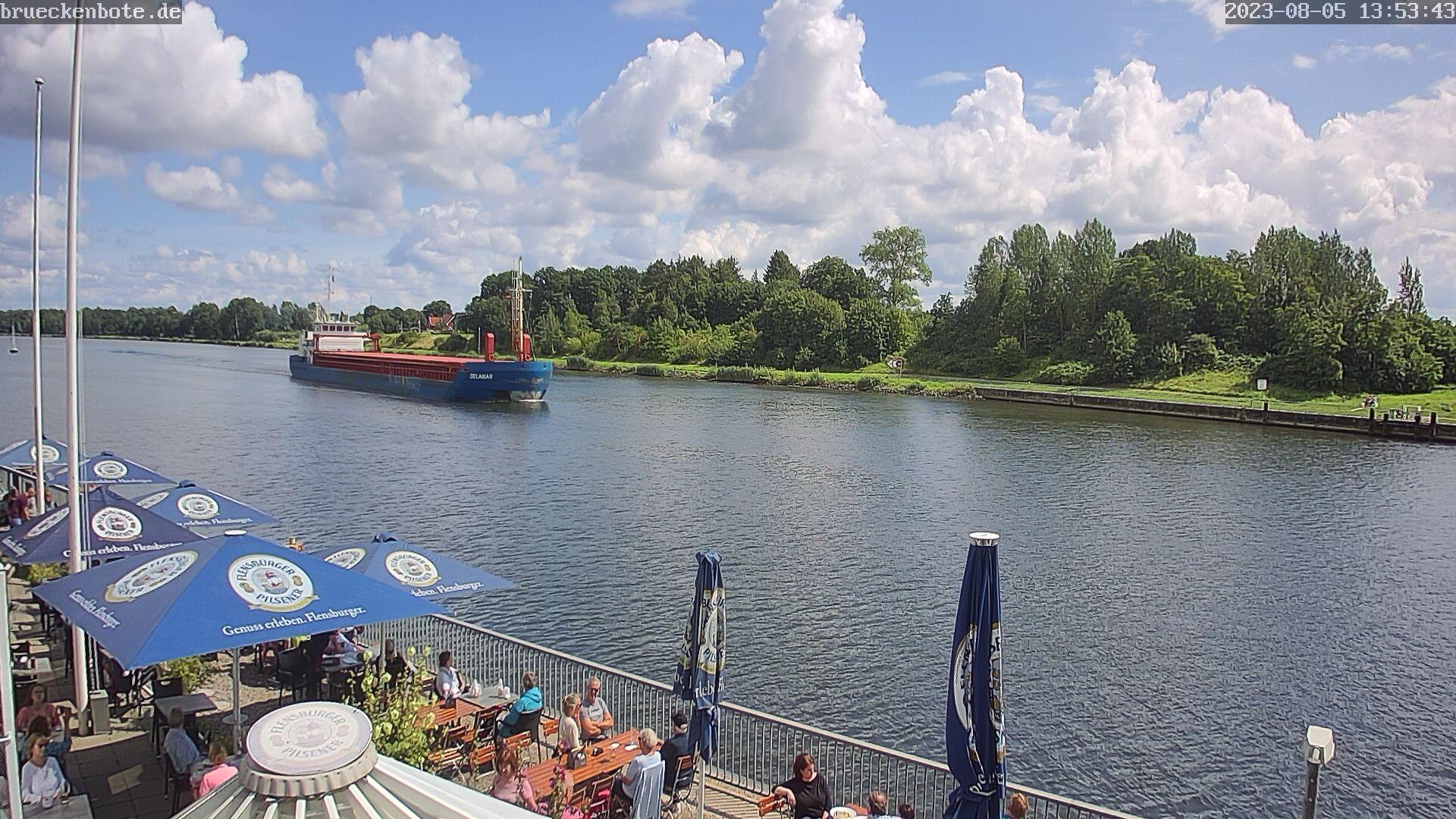 Webcam - Brückenbote (NOK Schiffsbegrüßungsanlage Rendsburg