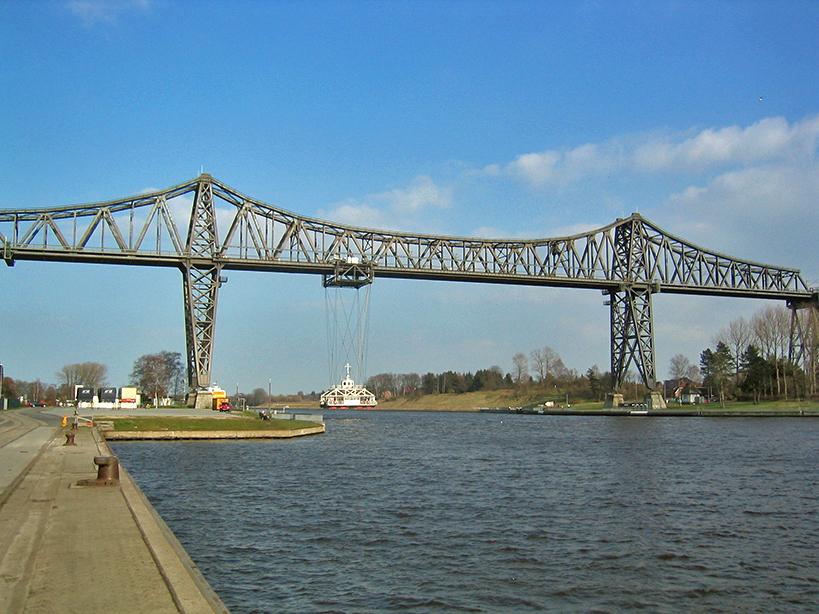 Die Eisenbahnhochbrücke in Rendsburg