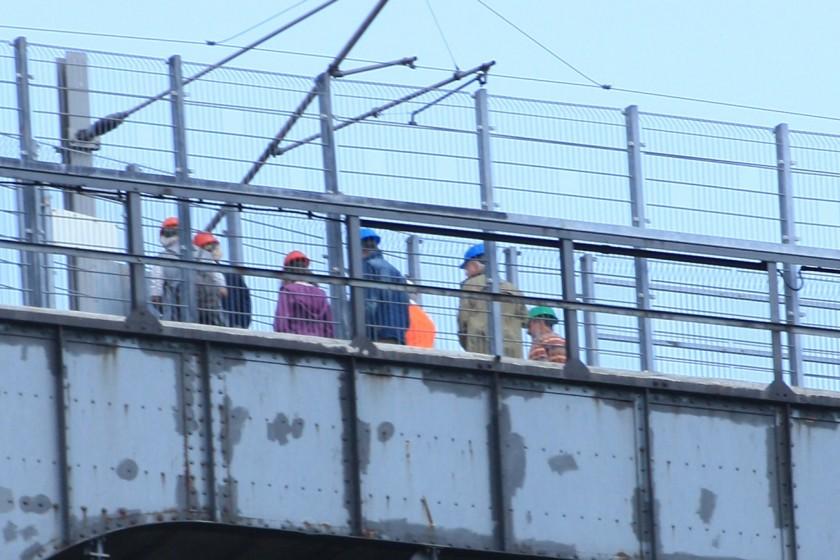 Aussichtsplattform auf der Rendsburger Eisenbahnhochbrücke