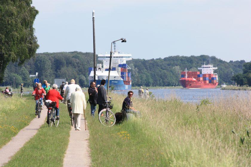 Freizeit am Nord-Ostsee-Kanal Foto: Stefan Fuhr